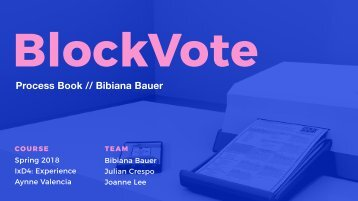BlockVote Process Book