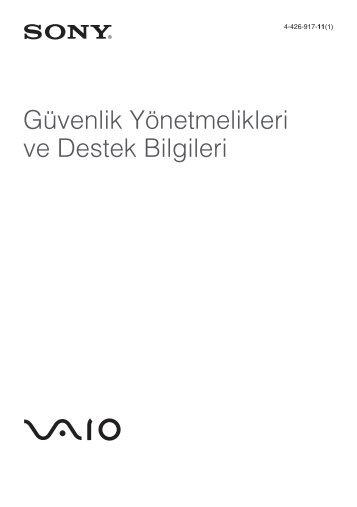 Sony SVS1311M9R - SVS1311M9R Documents de garantie Turc