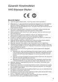 Sony SVS1311M9R - SVS1311M9R Documents de garantie Turc - Page 5