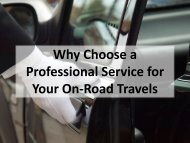 Why Choose a Professional Service for Your On-Road Travels