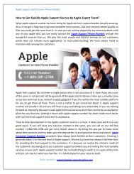 How to Get Quickly Apple Support Service by Apple Expert Team