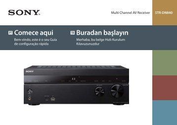 Sony STR-DN840 - STR-DN840 Guida di configurazione rapid Turco