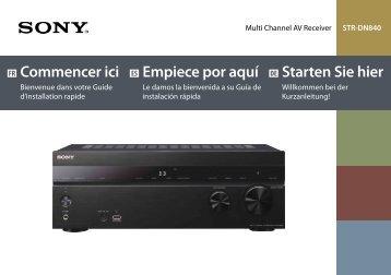 Sony STR-DN840 - STR-DN840 Guida di configurazione rapid Tedesco