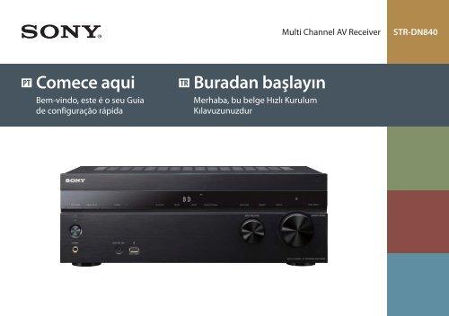 Sony STR-DN840 - STR-DN840 Guida di configurazione rapid Portoghese