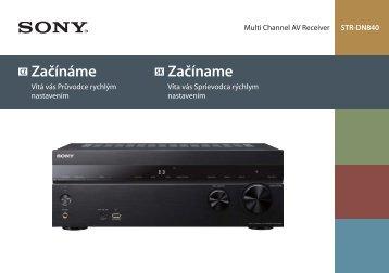 Sony STR-DN840 - STR-DN840 Guida di configurazione rapid Ceco