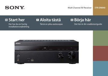 Sony STR-DN840 - STR-DN840 Guida di configurazione rapid Svedese
