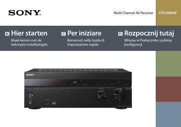 Sony STR-DN840 - STR-DN840 Guida di configurazione rapid Polacco