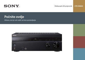 Sony STR-DN840 - STR-DN840 Guida di configurazione rapid Bosniaco