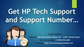 Get HP Tech Support and Support Number