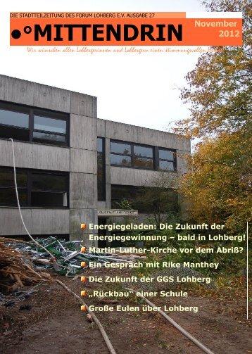 Termine - Dinslaken-Lohberg