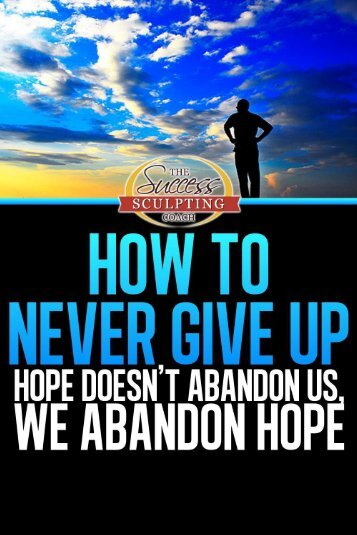Stephen Pierce on How To Never Give Up