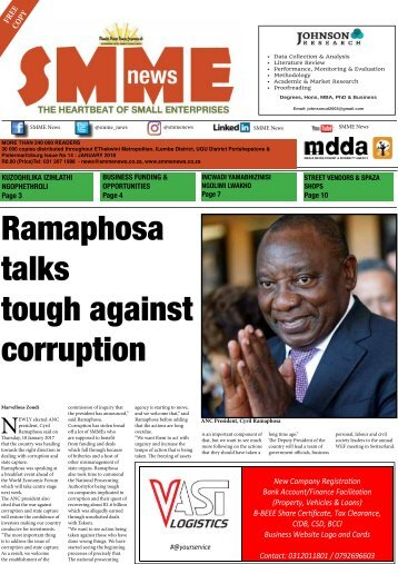 SMME NEWS  - JAN 2018 ISSUE