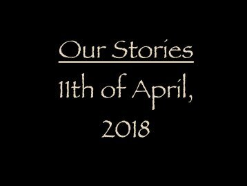 Stories from the 11th of April, 2018