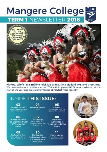Mangere College Term 1 Newsletter 2018
