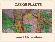 Canoe Plants | Lanaiʻi Elementary
