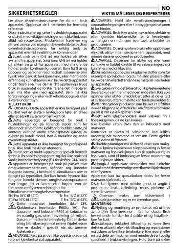 KitchenAid T 16 A1 D/I - T 16 A1 D/I NO (F093224) Health and safety