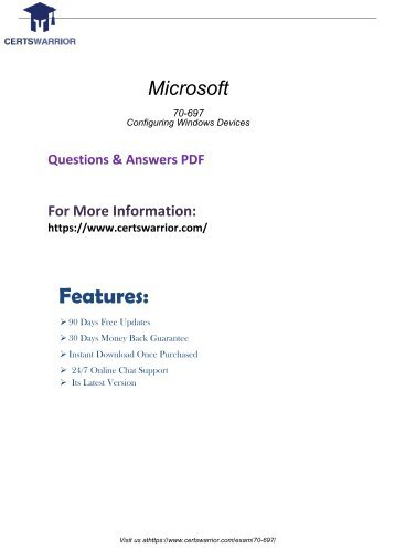 70-697 Latest Questions Answers To pass Your Exam 2018