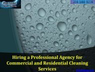 Commercial and Residential Cleaning Services