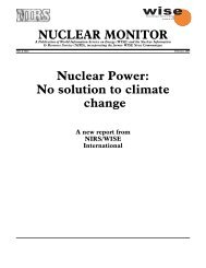 No Solution To Climate Change - Nuclear Information and Resource ...