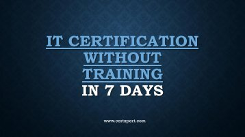 IT Certification without training | CertXpert