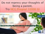 Make your Pregnancy Easier with help of HCG Pregnyl 10000 5000 IU Injections