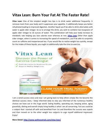 Vitax Lean: Burn Your Body Fat Naturally!