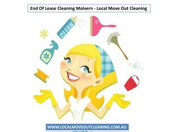 End Of Lease Cleaning Malvern - Local Move Out Cleaning