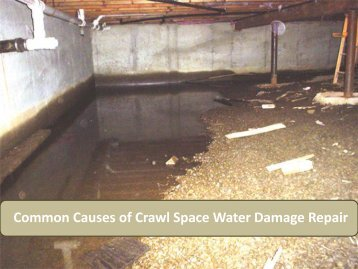 Common Causes of Crawl Space Water Damage Repair