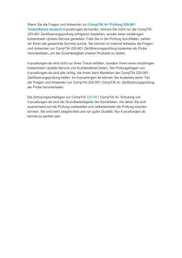 CompTIA A+ Prüfung 220-901 vce deutsch