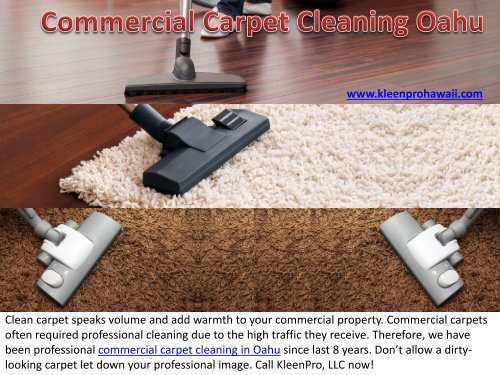 Commercial Carpet Cleaning in Oahu