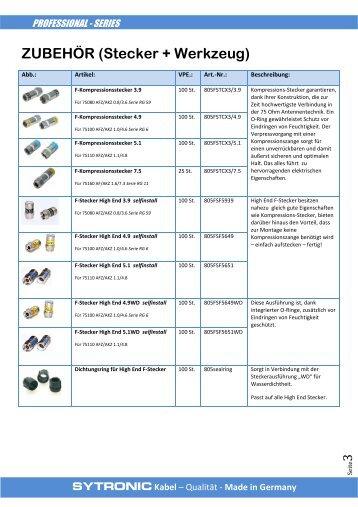 Sytronic (Zubehör und Stecker)