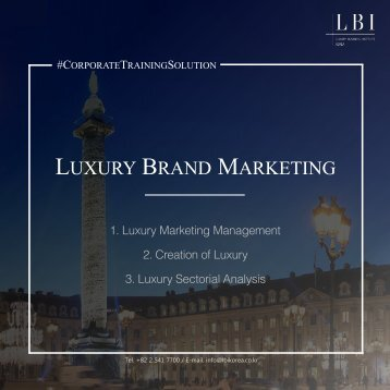 LBI Corporate Training Solution: Luxury Brand Marketing