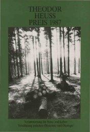 Preisverleihung 1987 - Theodor-Heuss-Stiftung