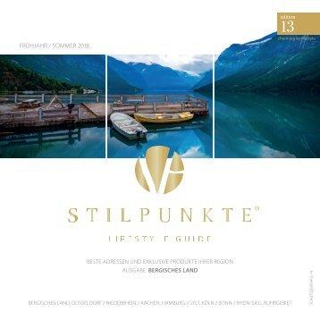 STILPUNKTE Lifestyle Guide Ausgabe Bergisches Land Frühjahr/Sommer 2018