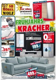 Frühjahrs-Kracher: Top-Möbel preiswert und gut bei SB-Möbel Wolf, Brandenburg