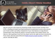 Dublin Airport Private Transfers