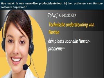 Telefoonnummer Norton Helpdesk Nederland: +31-202253603