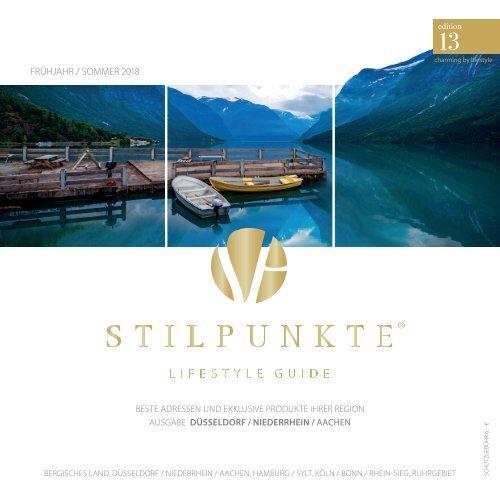 STILPUNKTE Lifestyle Guide Ausgabe Düsseldorf Frühjahr/Sommer 2018