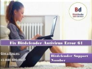 Fix Bitdefender Antivirus Error 61