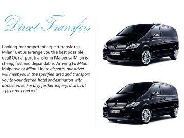 Malpensa Airport Transfer Service