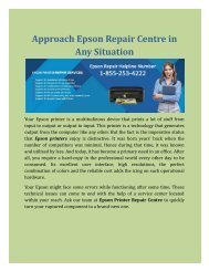 Approach Epson Repair Centre in any situation