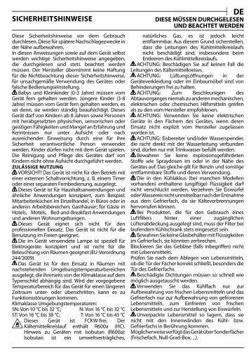 KitchenAid B 20 A1 DV E/HA - B 20 A1 DV E/HA DE (F093794) Health and safety