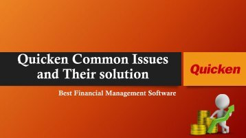 Fix Quicken General Errors | Best Finance Management Tool