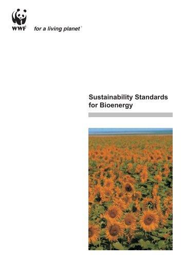 Sustainability Standards for Bioenergy - Öko-Institut eV