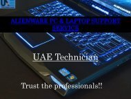 Dial +971-523252808 to get Alienware PC & Laptop Support Service all over Dubai