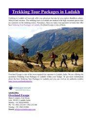 Trekking Tour Packages in Ladakh