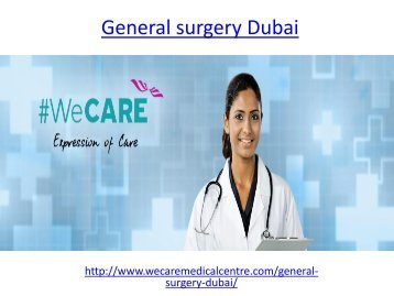 Are you looking for best General surgery in dubai