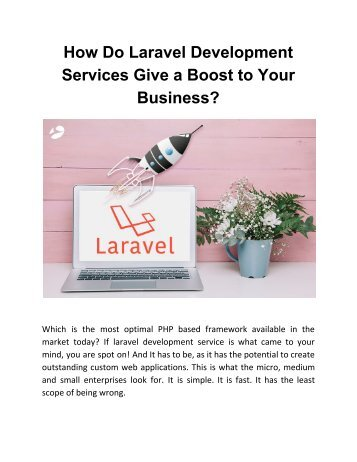 How Do Laravel Development Services Give a Boost to Your Business