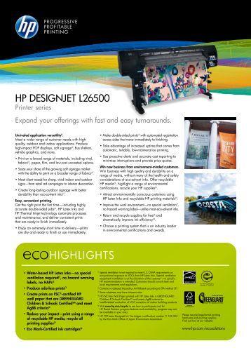 HP Designjet L26500 Printer