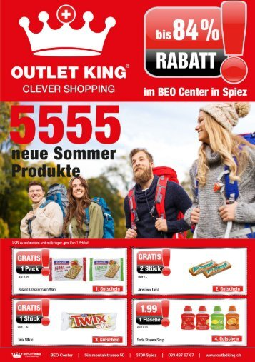 Outlet King Spiez - Flyer April 2018